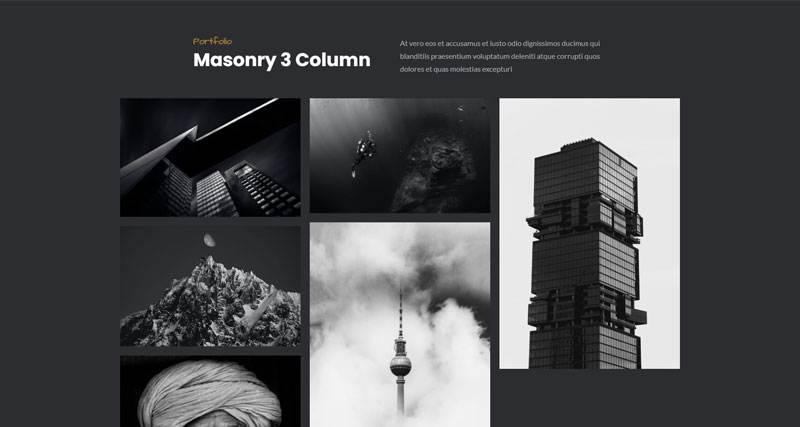Masonry 3 Column