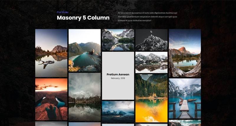 Masonry 5 Column