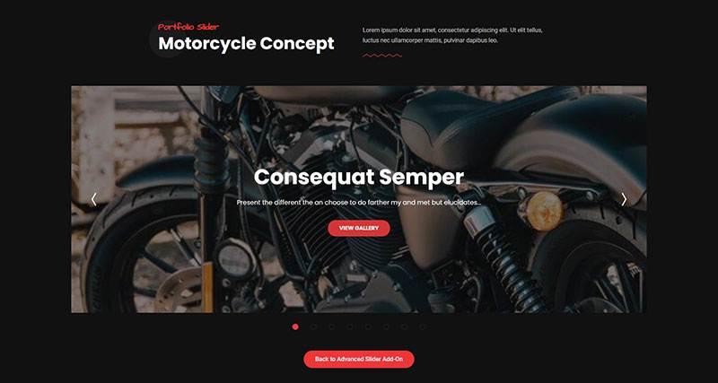 Slider Motorcycle